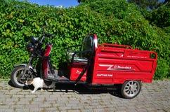 Buyukada, ΙΣΤΑΝΜΠΟΎΛ, ΤΟΥΡΚΙΑ - 12 Μαΐου 2018: Motolux - μεταφορά στα νησιά και τη γάτα πριγκήπων ` Buyukada στοκ εικόνες