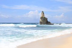 Buyutan海滩印度尼西亚 免版税库存照片