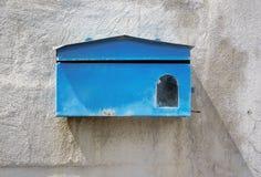 Buzón azul Foto de archivo libre de regalías