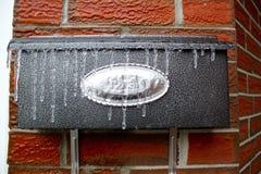 Buzón congelado fotografía de archivo