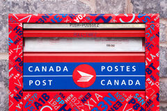 Buzón de los posts de Canadá imagenes de archivo