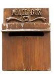 Buzón de madera Foto de archivo libre de regalías