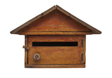 Buzón de madera Imágenes de archivo libres de regalías