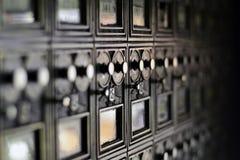 Buzón del apartamento Imagenes de archivo
