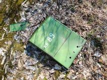 Buzón en Pripyat fotografía de archivo libre de regalías