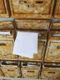Buzón oxidado Foto de archivo