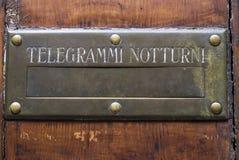 Buzón para el telegrama imagen de archivo libre de regalías