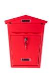 Buzón rojo Imagen de archivo libre de regalías