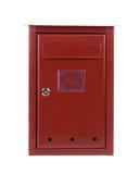 Buzón rojo del metal Imagen de archivo libre de regalías