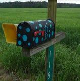 Buzón rural enrrollado Foto de archivo libre de regalías
