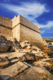 Buza beach outside of the Dubrovnik Old Town walls Stock Image