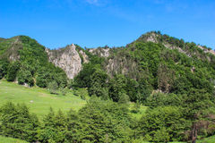 Buzau Mountains. A view of the Buzau mountains, a set of five mountain ranges in Romania which are part of the Curvature Carpathians region of the Outer Eastern Royalty Free Stock Photography