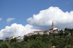 Buzet on the hill Stock Photo
