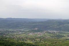 Buzet sul Mirna in Istria fotografia stock