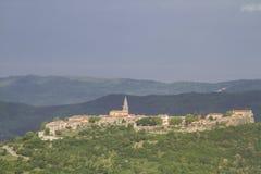 Buzet sul Mirna in Istria fotografie stock libere da diritti