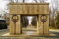 Buziak bramy grafika Constantin Brancusi w Rumunia obrazy royalty free