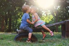 Buziak i miłość Obrazy Royalty Free