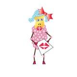 Buziak od różowego cakla z miłością Zdjęcie Stock