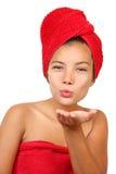 buziak podmuchowa kobieta Obrazy Stock