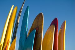 Buzios. Surf board royalty free stock image