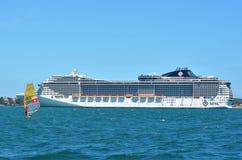 Buzios, Brazilië - Februari 24, 2013 Cruiseseizoen in Brazilië royalty-vrije stock fotografie