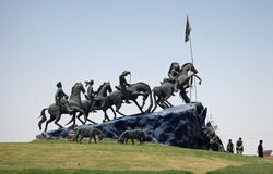 Buzkashi Monument royalty free stock photo