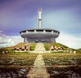 Buzludzha峰顶在保加利亚 免版税库存图片