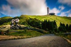 Buzludzha峰顶在保加利亚 库存图片