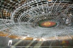 Buzludzha. Frost on the ceiling of Buzludzha , symbol of communism in Bulgaria Stock Photography