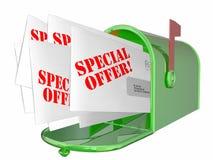 Buzón de envío de la letra de la oferta especial Fotos de archivo
