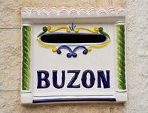 Buzon, ταχυδρομική θυρίδα Στοκ Εικόνα