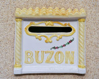 Buzon, Brievenbus Stock Foto's