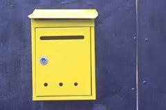 Buzones amarillos Fotografía de archivo libre de regalías