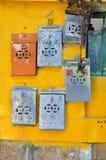 Buzones de correos del metal, Cheung Chau, Hong-Kong Imagen de archivo