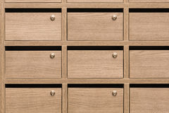 Buzones de madera del armario postales Fotografía de archivo libre de regalías