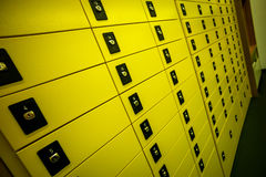 Buzones en la oficina de correos Fotografía de archivo libre de regalías