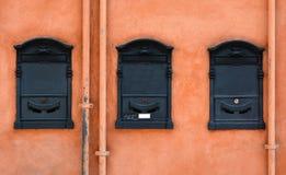Buzones italianos fotografía de archivo libre de regalías
