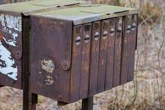 Buzones oxidados viejos Imagenes de archivo
