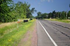 Buzones rurales del camino Imagen de archivo