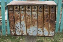 Buzones viejos en el oeste Foto de archivo