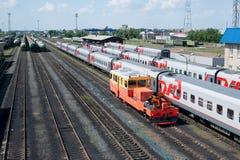 Buzuluk railway station , Russia Stock Photo