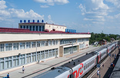 Buzuluk railway station , Russia Royalty Free Stock Image