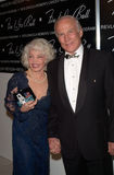 'Buzz' Aldrin. Former Apollo astronaut EDWIN BUZZ ALDRIN & wife LOIS at the 10th Annual Fire & Ice Ball in Beverly Hills. The event raised money for the Revlon/ Royalty Free Stock Photo