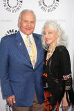 Buzz Aldrin, Debbie Reynolds, Lois Aldrin, 'Buzz' Aldrin Stock Image