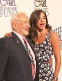 Buzz Aldrin Joins Actress Ana Villafane stock image