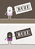 Buzz colored cartoon. Hand drawn characters Stock Photos