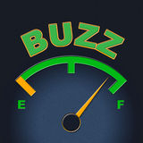 Buzz Gauge Shows Scale Awareness And Exposure Royalty Free Stock Photos