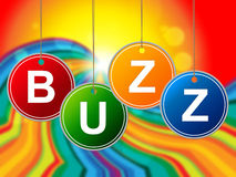 Buzz Internet Shows World Wide Web And Announcement Royalty Free Stock Photography