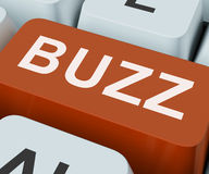Buzz Key Shows Awareness Exposure And Publicity. Buzz Key Showing Awareness Exposure And Publicity Stock Photography