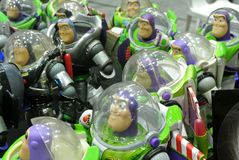 Buzz Lightyear the Space Ranger superhero fictional action figure royalty free stock photography